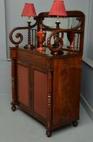Fine Regency Mahogany Chiffonier Side Cabinet (12 of 18)