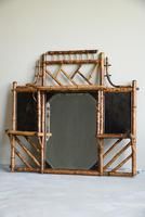 Antique Victorian Bamboo Mirror (4 of 9)