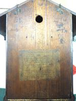 Antique Carved Early Cuckoo Clock Weight Driven Visible Pendulum (13 of 14)