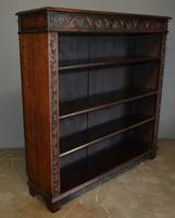 Victorian Carved Oak Open Bookcase (3 of 3)