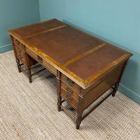 Stunning Victorian Maple & Co Antique Oak Pedestal Desk (5 of 9)