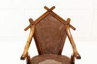 19th Century Walnut and Cane Chair (3 of 8)
