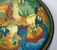 Antique Hand Painted Russian Lidded Box (7 of 9)