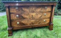 French Empire Commode in Figured Walnut (2 of 7)