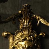 French 19th Century Bronze Bacchus Antique Wall Sconces (6 of 10)