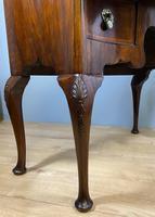 Shaped Walnut Lowboy Hall Table (6 of 11)