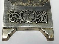 Antique Chinese Solid Silver Zu Yin Hallmarked Scroll Weight Plaques Guangxu (8 of 24)