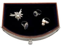 Sterling Silver Dressing Table Mirror and Jewellery Box - Antique Edwardian (8 of 12)