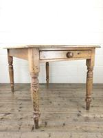 Antique Pine Farmhouse Kitchen Table (2 of 10)