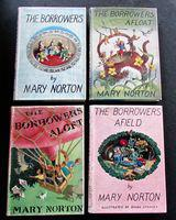 1960's Collection of the Borrowers by Mary Norton 4 x Volumes + Dust Jackets