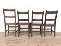 Four Similar 19th Century Welsh Oak Bar Back Farmhouse Chairs (9 of 9)