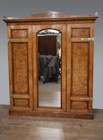 Victorian Walnut Triple Wardrobe