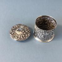 Antique Edwardian Silver String or Twine Box (2 of 4)