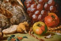 """Oil Painting Pair by Charles Thomas Bale """"Fruit and Game Larder Scenes"""" (4 of 10)"""