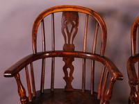 A Near Pair of Childs Yew Wood Windsor chairs (3 of 14)