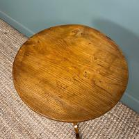 Georgian Country House  Elm Antique Tripod Table (2 of 6)