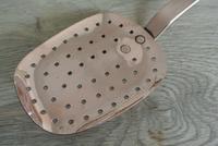 Antique Victorian Large Copper Kitchen Ladle Skimmer Strainer (2 of 4)