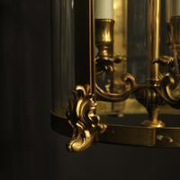 French Gilt Bronze Convex Antique Hall Lantern (6 of 10)