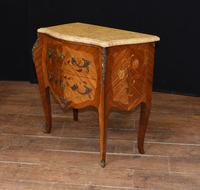 Antique French Commode Nightstand - Bombe Chest (4 of 8)