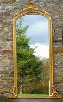 Large Antique French Arched Gilt Mirror of Unusual Size (2 of 8)