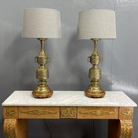 Large Pair of Chinese Style Brass Lamps (14 of 14)