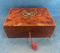 19th Century  French Burr Cedar Jewellery Box (10 of 11)