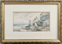 Leopold Rivers Watercolour 'King & Queen Rocks, Flamborough Head, Yorkshre' (2 of 3)