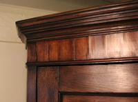 Antique Country Oak panelled Corner Cupboard. Circa 1800 (8 of 12)