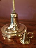 Antique Brass Rise & Fall Chamberstick & Snuffer (2 of 6)