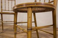 A Pair Of Late 19th Century Painted Faux Bamboo Side Chairs (3 of 11)