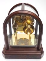 Wow! Franz Hermle & Sohne Musical Bell Chiming Mahogany & Glass Mantel Clock (6 of 13)