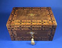 Victorian Walnut Tunbridge Ware Inlaid Jewellery Box (8 of 11)
