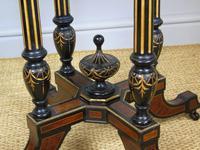 Outstanding Aesthetic Ebonised Birds Eye Maple & Gilt Bronze Table (6 of 10)