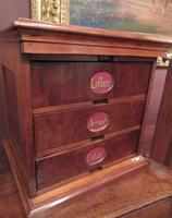 Antique Walnut Three Drawer Filing Cabinet c.1900 (4 of 9)