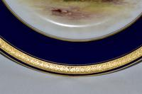 Royal Worcester Dish 1914 - Hand-painted Lowland Cattle by John Stinton, (6 of 9)