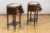 Pair of French Three Drawer Mahogany Bedside Cabinets (7 of 10)