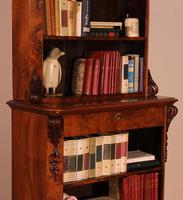 Open Bookcase in Burl Walnut - 19th Century (11 of 13)