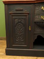 Art Nouveau Black Painted Sideboard, Gothic shabby chic (16 of 16)