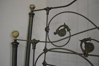 Antique Victorian Brass & Iron King Size 5ft Bedstead (11 of 14)