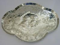 """Large 12"""" Cherub Angels Solid Sterling Silver Dressing Table Tray 1906 (3 of 7)"""