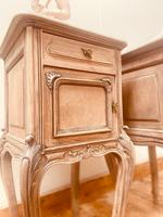 French Antique Bedside Tables / Marble Bedside Cabinets / Louis XV Nightstands (7 of 10)