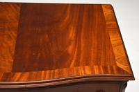 Antique Georgian Style Flame Mahogany Serpentine Chest of  Drawers (8 of 9)