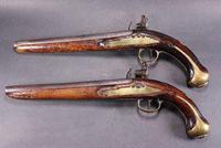 Pair of mid 18th Century Continental Flintlock Holster Pistols (7 of 7)