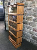 Antique Oak Globe Wernicke Stacking Library Bookcase (3 of 7)