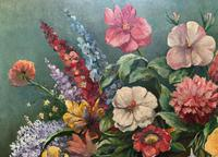 An Extraordinary Original 1952 Vintage French Still Life Of Flowers Oil Painting (5 of 11)