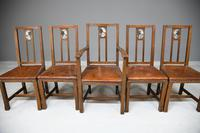 Set 5 Arts & Crafts Dining Chairs (4 of 12)