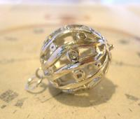 Vintage Pocket Watch Chain Fob 1970s Large Fancy Chrome Ball Fob (3 of 6)