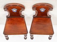 Good Pair of Victorian Mahogany Hall Chairs (8 of 8)