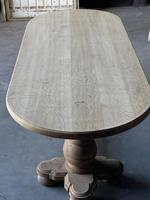 Large French Bleached Oak Monastery Dining Table (8 of 18)