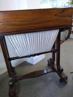 Victorian Mahogany Green Leather Lady's Workstation, Sewing & Writing Desk (2 of 10)
